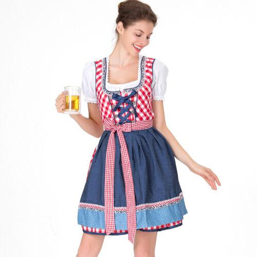 Womens Ladies Oktoberfest Maid Dress Fancy Costume German Beer Bavarian Outfit