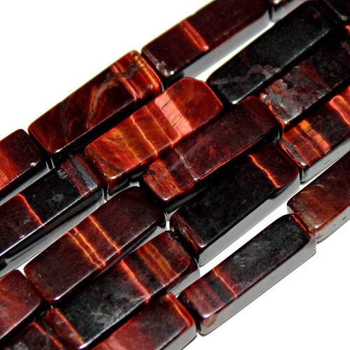 RED TIGEREYE GEMSTONE RECTANGLE BEADS 4X13MM TIGER EYE STONE BEAD STRANDS S13