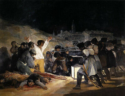 Oil Goya - The Third of May, 1808, The Execution of the Defenders of Madrid