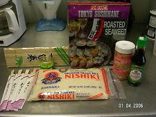 Basic Sushi Kit Rice Nori wasabi ginger soy sauce chopsticks Gift