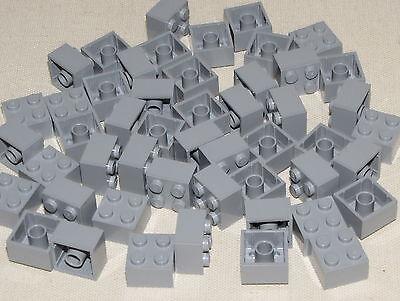 LEGO LOT OF 50 NEW LIGHT BLUISH GREY 2 X 2 BLOCKS BRICKS CASTLE HOUSE PARTS