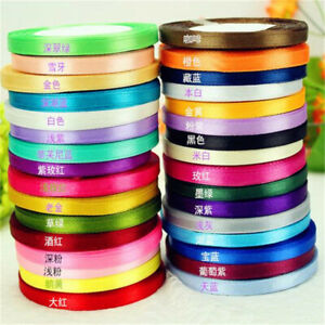 25-yds-Double-Face-Satin-Ribbon-DIY-Hair-Bow-Wedding-Decor-Party-Craft-6mm-New