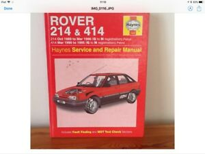 haynes manual for rover 214 414 service and repair manual ebay rh ebay co uk Rover Automobiles Rover Tourer