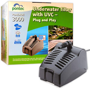 Oase-Pontec-PondoRell-3000-Clear-Pond-Water-Filter-UV-Fountain-Pump-Fish-Koi