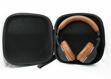 Carrying Hard Leather Case for Over-Ear Headphones Full Size Headset (Black) New