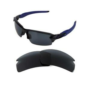 b42eb985c2b10 NEW POLARIZED REPLACEMENT BLACK LENS FOR OAKLEY FLAK JACKET 2.0 ...
