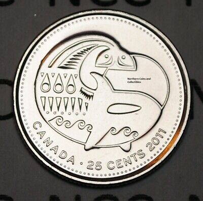 BU Canadian Quarter Canada 2011 25 cents Orca Whale Nice UNC from roll