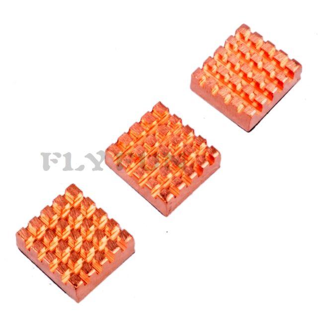 3pcs Copper Heat Sink Heatsink Cooler Set for Raspberry Pi RPI Heat Conduction