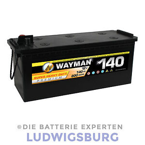 wayman truck premium w140 lkw batterie 12v 140ah 800a. Black Bedroom Furniture Sets. Home Design Ideas