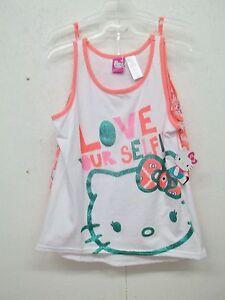 13c7f83da9596b NWT Hello Kitty Girls 3 Pc Short Set-6 6X OR 10 12-Shorts-2 Tank ...