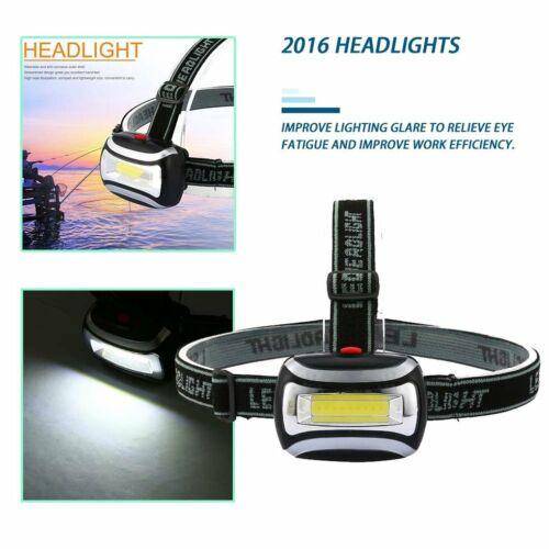 Rechargeable LED Headlamp Headlight Flashlight Camping Fishing KW