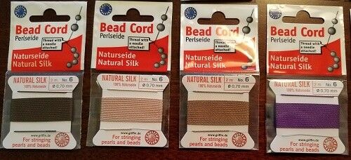 for Stringing Pearls and Beads Griffin Natural Silk Bead Cord Thread