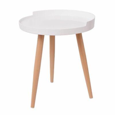 vidaXL Tavolino Tavolo Tavolinetto Salotto caff/è Rotondo con Vassoio 40x45,5 cm