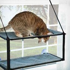 K&H Cat Kitten Mounted Window Sill Seat Perch Shelf Bed Indoor Pet Play Lounger