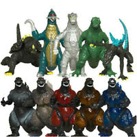 "Lot of 10 Different Versions of Godzilla 3"" Monsters Kids Toy Figure Figures Set"