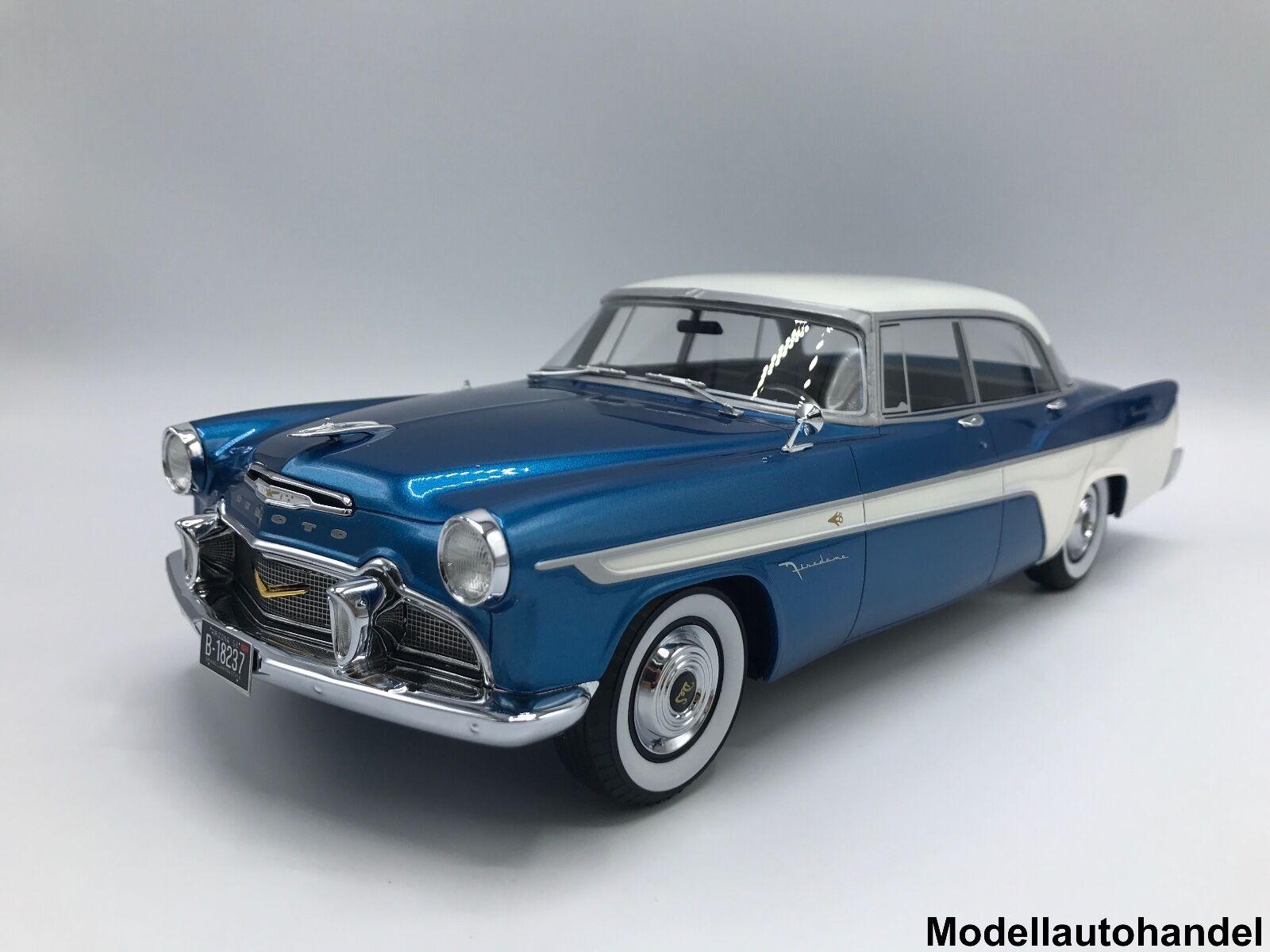 DeSoto FIREDOME 4-door Seville 1956 metallico-Blu Bianco 1 18 BOS