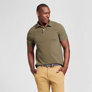 Goodfellow-Men-039-s-Standard-Fit-Short-Sleeve-Polo-Shirt-S-XXL-olive-burg-tan