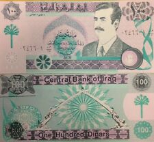IRAQI IRAQ SADDAM 1991 100 DINAR 2003 REPRINT VERY RARE BUY FROM A USA SELLER !!