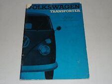 Handleiding / Instructieboek VW Bus + Transporter T1 nederlands, Stand 10/1964