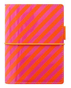 Filofax-tascabile-formato-agenda-organiser-personale-039-DOMINO-039-ARANCIONE-amp-Rosa