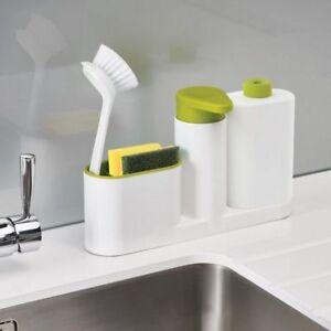 Vaisselle-Cuisine-Rangement-Etagere-evier-Set-Distributeur-De-Detergent-Rack-Organisateur-Stands