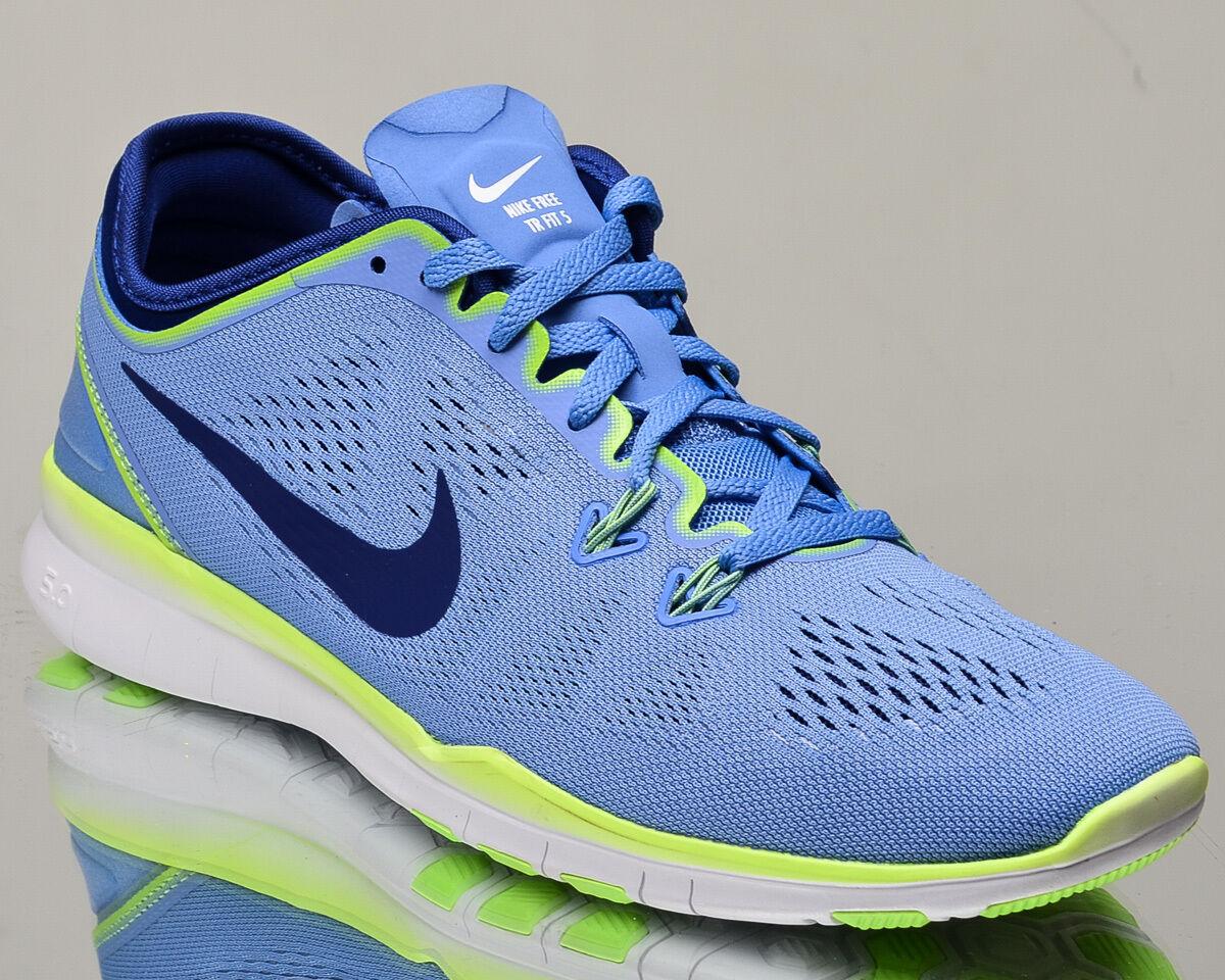 NIKE Da Donna gratuita 5.0 TR vestibilità 5 V allenare scarpe da ginnastica Gesso Blu