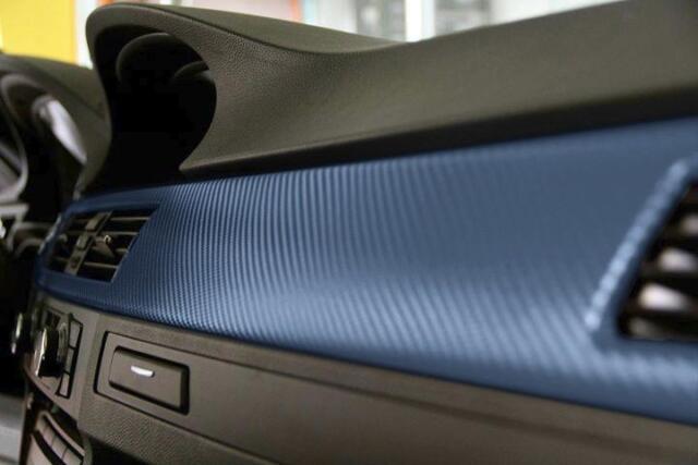 Carbon Fiber Blue car wrap vinyl air free film choose your size vvivid8 3mil