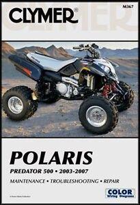clymer polaris predator 500 service repair manual free ship ebay rh ebay com polaris predator 500 service manual 2006 2003 polaris predator 500 service manual pdf