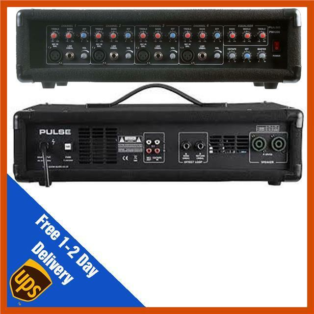Pulse PMH200 4 Channel PA Pulse PMH200 Power Mixer Amplifier Amp   DJ   Disco
