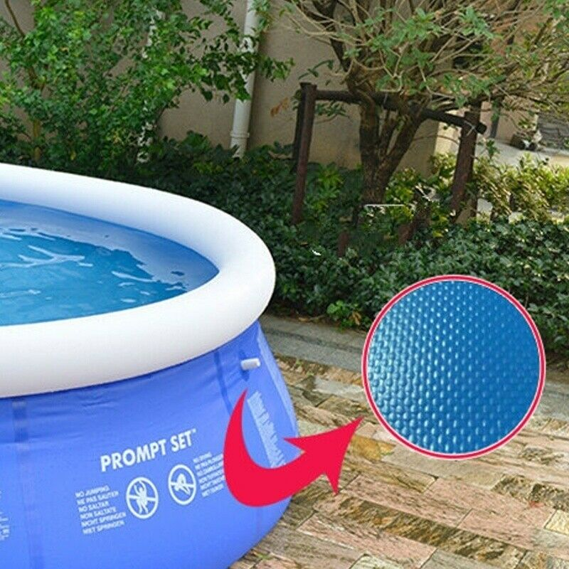 8ft x 30in Large Kids Inflatable Above Ground Family Swimming Pool PVC Bath Tub