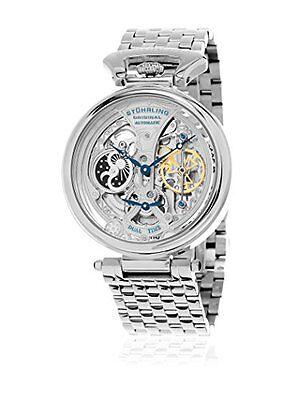 Stuhrling Original 797 01 Men's Legacy Automatic Skeleton Stainless Steel Watch