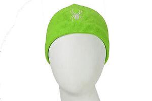9202dcedd55 SPYDER-1  BRAND NEW NWT GIRLS SPYDER GREEN ACRYLIC BEANIE HAT ONE ...