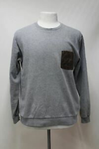 COS-Men-039-s-Grey-Cotton-Long-Sleeve-Crew-Neck-Casual-Jumper-Sweater-Top-Large