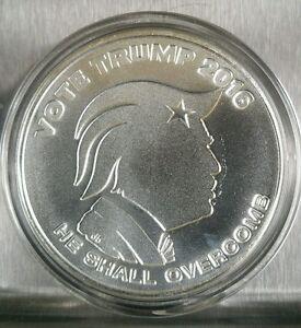 Vote Donald Trump 1 Oz 999 Silver Shield Republican Rnc