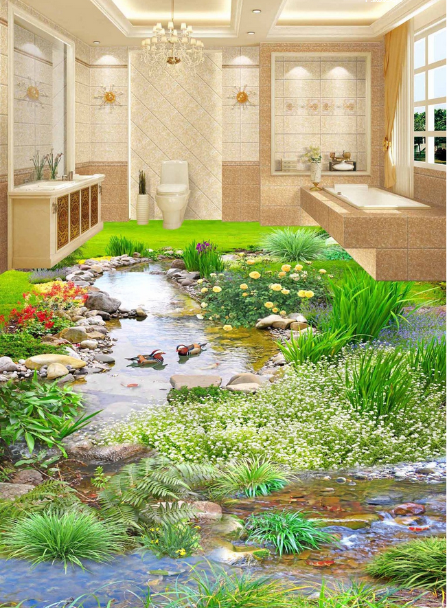 3D Flower Grass 49 Floor WallPaper Murals Wall Print Decal AJ WALLPAPER CA Carly