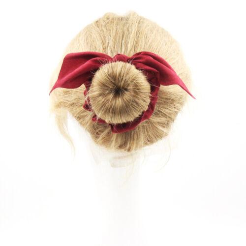 29 couleurs 1PC Silky Oreilles de lapin nœud noué élastique cheveux bandes Lapin Oreilles Noeud
