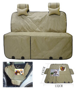 Beige-Car-Rear-Seat-Cover-Pad-Mat-Pet-Dog-Hammock-Protect-from-Dust-Hair-Dirt