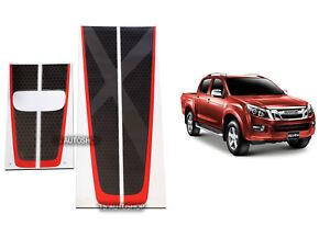 black red front rear tailgate sticker x-series fit isuzu d-max dmax