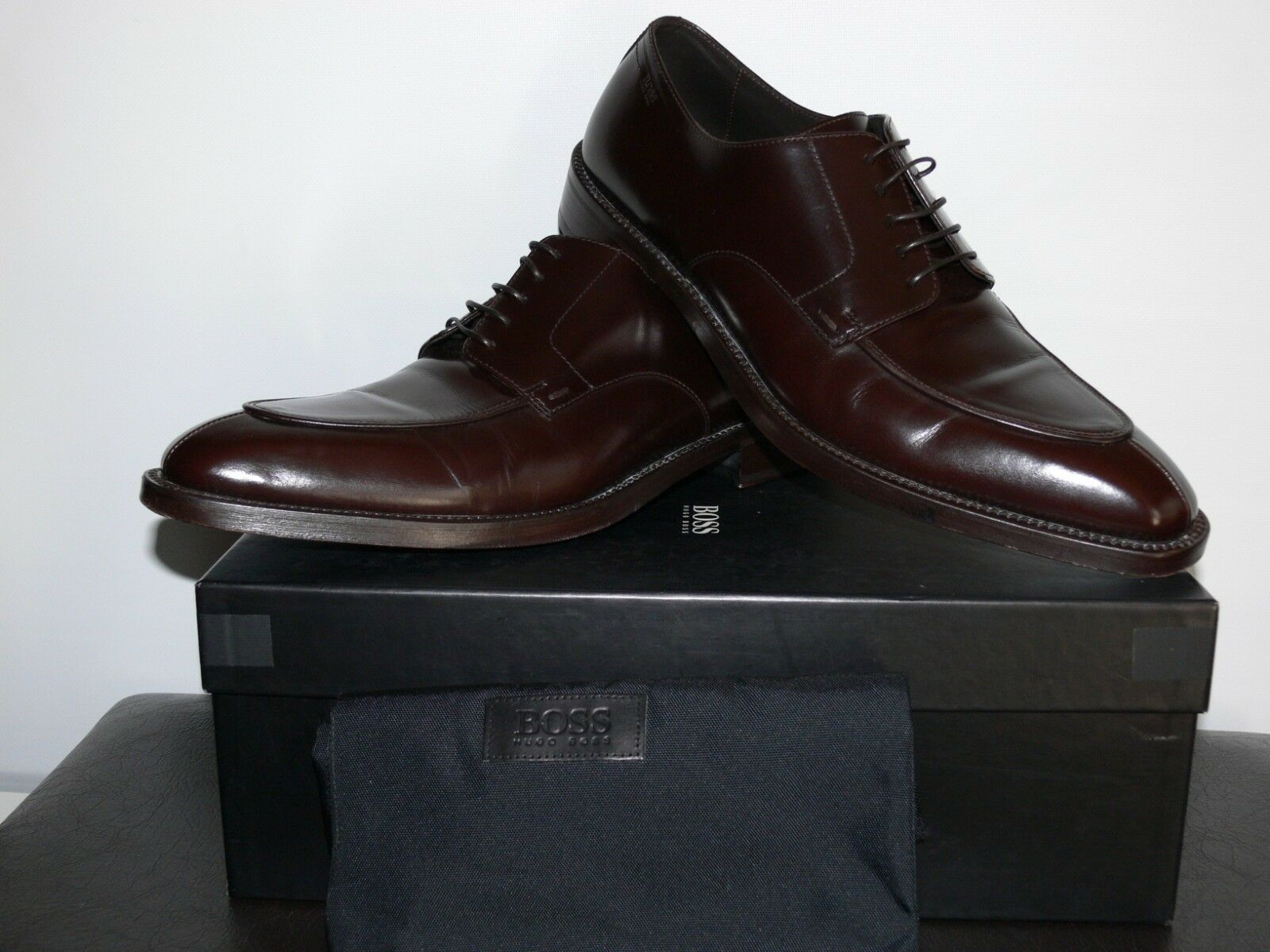 NEW  490.00 HUGO BOSS FORMAL MADE IN ITALY GENUINE LEATHER  SIZE US 10.5