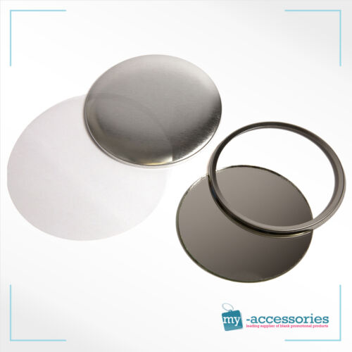 G Series 59mm Pocket Mirror Button Components 500 No 59mm Miror Components