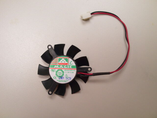 45mm Fan 2 Pin Nvidia GT430 620 Video Card Magic MGA5012XR-A10 TCM5010-12RF