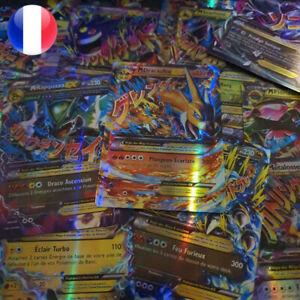 Lots-de-cartes-Pokemon-neuves-GX-MEGA-brillantes-en-francais-ideal-pour-enfants