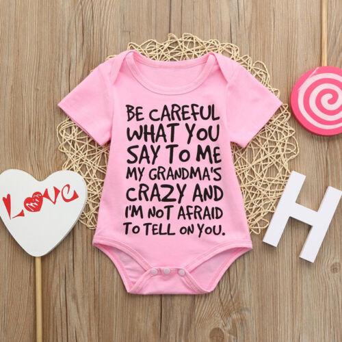 Summer Newborn Baby Kids Girl Boy Romper Jumpsuit Outfits Sunsuit Clothes US