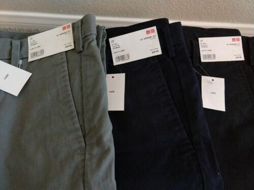 Uniqlo Slim Fit Navy Color Chino Pants 29X34 NWT