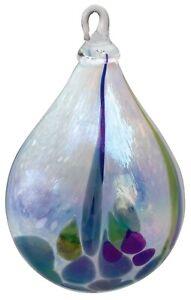 Glass-Eye-Studio-RAIN-FOREST-Hand-Blown-Art-Glass-Raindrop-Christmas-Ornament