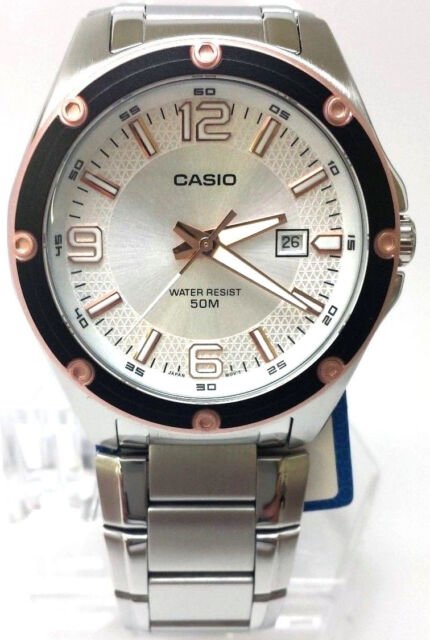 Casio MTP-1346D-7A2V Mens Stainless Steel Dress Watch Silver Dial 50M Date New
