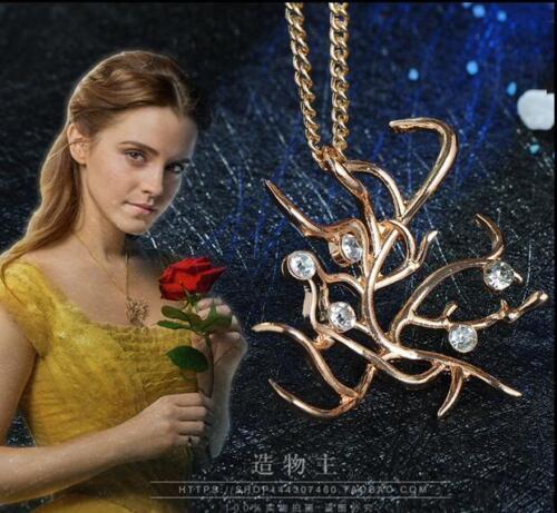 Nouveau Film Beauty and the Beast Collier Arbre Belle Collier New Hot Cadeau US Ship
