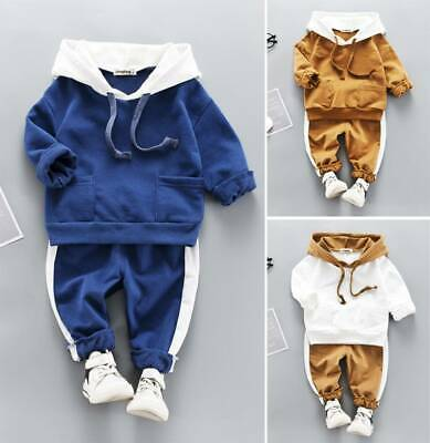 2PCS Girls Kids Toddler Outfits Tracksuit Sweater Tops Long Pants Clothes Sets