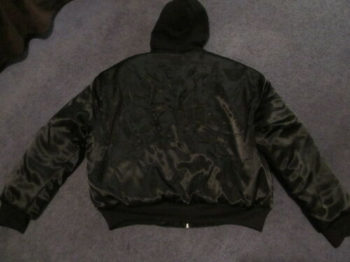 Detachable Large Bomber Victoria's Hood Secret Black Hooded Jacket With Pink Nip 0STCqC