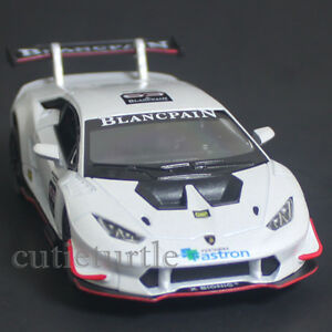kinsmart lamborghini huracan lp 620 2 super trofeo 1 36 diecast toy car white ebay. Black Bedroom Furniture Sets. Home Design Ideas